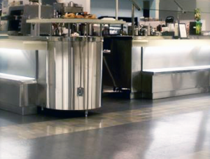 FSI commercial flooring for cafeteria Cafeteria Charles Schwab project