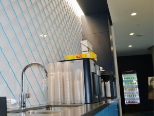 FSI tile install Cafeteria Feature Inlay