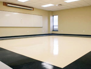 FSI commercial resilient flooring for Classroom Dripping Springs High School project