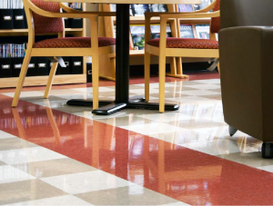 FSI Education commercial flooring for university library UT Jackson School of Geosciences at J.J. Pickle