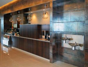 FSI commercial flooring, stone, and tiling for Forest Park Medical Center cafe