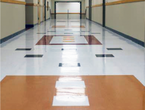 FSI hallway commercial flooring for Dripping Springs High School Project