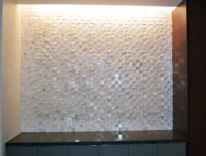 FSI tile install Kitchen Feature Inlay