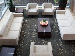 FSI commercial flooring for Seating Area Charles Schwab project